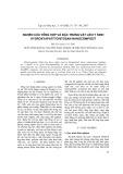 Nghiên cứu tổng hợp và đặc trưng vật liệu y sinh hydroxyapatit/chitosan nanocompozit