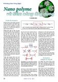 Nano polyme và tiềm năng ứng dụng