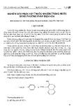 Nghiên cứu phân hủy thuốc nhuộm trong nước bằng phương pháp điện hóa