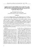 Nghiên cứu xây dựng phương pháp vi chiết pha lỏng kết hợp sắc ký khí (GC/ECD) xác định Tetracloetylen trong môi trường nước