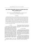 Quá trình phóng điện của ion chì trong dung dịch phức cacbonat-deta