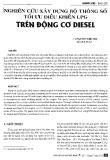 Nghiên cứu xây dựng bộ thông số tối ưu điều khiển LPG trên động cơ DIESEL