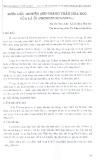 Bước đầu nghiên cứu thành phần hóa học của lá ổi (Psidium Guajaval)