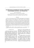 Decomposition of brominated organic compounds in environment water by-ray irradiation