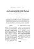 Chế tạo, khảo sát các đặc trưng và hiệu ứng hấp thụ Asen của vật liệu Oxit sắt từ kích thước Nano