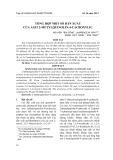 Tổng hợp một số dẫn xuất của Axit 2-metylquinolin-4-cacboxylic