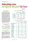 Giải pháp nào cho nguyên liệu giấy Việt Nam