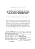 Thử nghiệm gia tốc khả năng phân hủy quang của màng polyme trên cơ sở blend polyetylen tinh bột sắn sử dụng benzophenon/antraquinon hoặc hợp chất Fe(II) làm chất nhạy quang