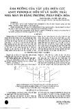 Ảnh hưởng của vật liệu điện cực Anot Ferosilic đến xử lý nước thải nhà máy in bằng phương pháp điện hóa