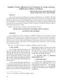 Nghiên cứu quá trình sản xuất tinh dầu từ vỏ quả chanh không hạt (citruus latifoia)