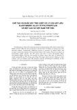 Cơ chế và tính chất cơ lý của vật liệu Elastomeric Alloy từ Polypropylen và bột cao su Việt Nam phế thải
