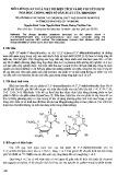Mối liên quan giữa mật độ điện tích và độ chuyển dịch hóa học trong một số dẫn xuất của thimindin