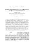 Nghiên cứu độ bền thời tiết và khả năng ứng dụng của vật liệu nanocompozit pvc/dop/clay