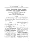 Tổng hợp và nghiên cứu phức chất của một số nguyên tố đất hiếm (La, Pr, Nd, Sm) với L-isolơxin