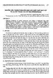 Nghiên cứu thành phần hóa học các hợp chất bay hơi từ lá cây thuộc chi hồ tiêu (piperaceae)