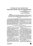 Sử dụng xúc tác chuyển pha trong quá trình tổng hợp Propranolol