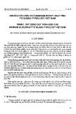 Nghiên cứu điều chế mangan dioxit hoạt tính từ quặng pyrolusit Việt Nam - Phần 1: Xây dựng quy trình điều chế Manga (II) Sunphat từ quặng Pyrolusit Việt Nam