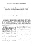 Xác định lượng vết một số kim loại nặng trong các loài trai ốc ở Hồ Tây - Hà Nội bằng phương pháp ICP-MS