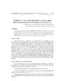 Nghiên cứu tách chiết precosene và thử nghiệm hoạt tính kháng sâu tơ (plutella xylostella L.)