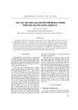 Xúc tác oxit kim loại chuyển tiếp /MCM-41 trong phản ứng oxi hóa ancol benzylic