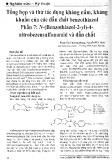 Tổng hợp và thử tác dụng kháng nấm, kháng khuẩn của các dẫn chất benzothiazol. Phần 7: N-(Benzothiazol-2-yl)-4- nitrobezensulfonamid và dẫn chất