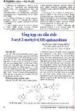 Tổng hợp các chất dẫn 3-aryl-2methyl-4(3H)-quinazolinon
