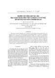 Nghiên cứu tổng hợp vật liệu mao quản trung bình trật tự MCM-41 từ vỏ trấu để hấp thụ các chất ô nhiễm hữu cơ
