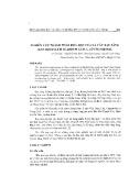 Nghiên cứu thành phần hóa học của lá cây rau sâng (zanthoxylum scabrum guil l.) ở Thanh Hóa