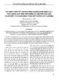 Xác định lượng vết Asen (III) bằng phương pháp động học-trắc quang dựa trên ảnh hưởng ức chế phản ứng giữa Kalibromat và Kalibromua trong môi trường axit sunfuric