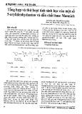 Tổng hợp và thử hoạt tính sinh học của một số 5-arylidenhydanton và dẫn chất base Mannich
