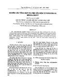 Nghiên cứu tổng hợp polyme dẫn điện từ ferocen và benzaldehyt