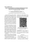 Study on Synthesis of chitosan nanoparticles and their application for drug carriers