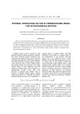 Internal interaction factor in thermodynamic model for heterogeneous mixture