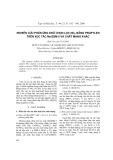 Nghiên cứu phản ứng khử chọn lọc NOx bằng propylen trên xúc tác Me/ZSM-5 và chất mang khác