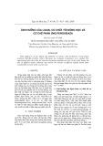 Ảnh hưởng của ligan, cơ chất tới động học và cơ chế phản ứng peroxidaza