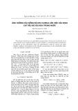 Ảnh hưởng của nồng độ ion clorua lên việc xác định chỉ tiêu độ oxi hóa trong nước