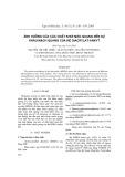 Ảnh hưởng của các chất khơi mào quang đến sự khâu mạch quang của hệ diacrylat-ankyt