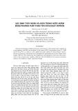 Xác định thủy ngân và Asen trong nước ngầm bằng phương pháp phân tích kích hoạt Nơtron