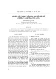 Nghiên cứu thành phần hóa học cây Sài đất (wedelia calendulacea less.)
