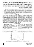 Nghiên cứu sự tạo phức đơn Ligan giữa Zn(II) với Pan bằng phương pháp chiết - trắc quang và ứng dụng xác định kẽm trong thuốc mỡ