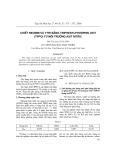 Chiết Neođim và ytri bằng Triphenylphosphin oxit (TPPO) từ môi trường axit nitric