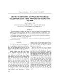 Các yếu tố ảnh hưởng đến phản ứng phân bố lại toluen trên zeolit y biến tính tổng hợp từ cao lanh Việt Nam