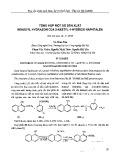 Tổng hợp một số dẫn xuất Benzolyl hydrozon của 2-axetyl-1-hydroxi naphtalen