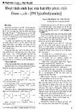 Hoạt tính sinh học của hai dãy phức chất Trans-, cis - [PtCl2(safrol)(amin)]