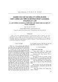 Nghiên cứu chế tạo sơn lót chống ăn mòn chất lượng cao trên cơ sở nhựa epoxy -cacdanol và nanoclay I.30E: Ảnh hưởng của nanoclay đến cấu trúc và tính chất của nhựa epoxy-cacdanol
