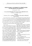 Phân tích dạng Cr (VI) trong đất và trầm tích bằng phương pháp hấp thụ nguyên tử