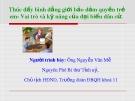 Bài giảng Thúc đẩy bình đẳng giới bảo đảm quyền trẻ em - Vai trò và kỹ năng của đại biểu dân cử - Nguyễn Văn Mễ