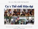 Báo cáo Phát triển Việt Nam 2010: Các thể chế hiện đại