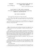 Chính phủ số: 161/1998/QĐ-TTg