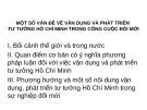 Bài giảng Tư tưởng Hồ Chí Minh: Một số vấn đề về vận dụng và phát triển tư tưởng Hồ Chí Minh trong công cuộc đổi mới - GV. Lê Thị Ái Nhân